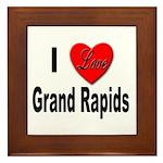 I Love Grand Rapids Michigan Framed Tile