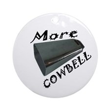Cute Cowbell Ornament (Round)