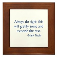 Twain Framed Tile
