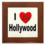 I Love Hollywood Framed Tile