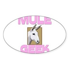 Mule Geek Oval Decal