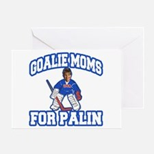 Goalie Moms for Palin Greeting Card