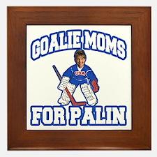 Goalie Moms for Palin Framed Tile