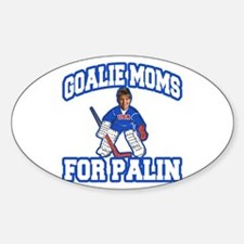 Goalie Moms for Palin Oval Decal