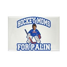 Hockey Moms for Palin Rectangle Magnet