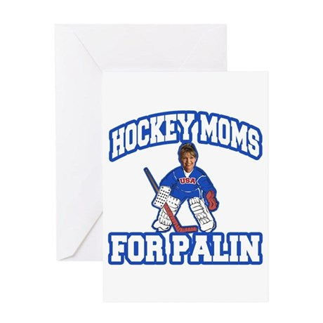 Hockey Moms for Palin Greeting Card