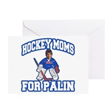 Hockey Moms for Palin Greeting Card