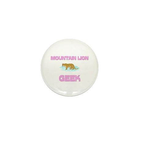 Mountain Lion Geek Mini Button