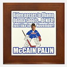 McCain Palin Denied Framed Tile