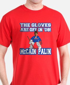 McCain Palin Gloves Are Off T-Shirt