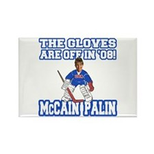 McCain Palin Gloves Are Off Rectangle Magnet