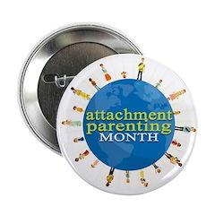 """Attachment Parenting Month 2.25"""" Button (10 p"""