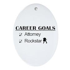Attorney Career Goals Rocksta Oval Ornament