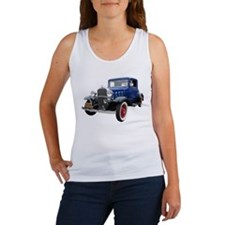 Helaine's 32 Blue Vintage Car Women's Tank Top