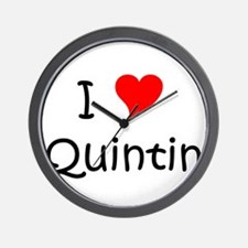Cute I love quintin Wall Clock