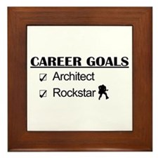 Architect Career Goals Rockstar Framed Tile