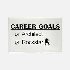 Architect Career Goals Rockstar Rectangle Magnet