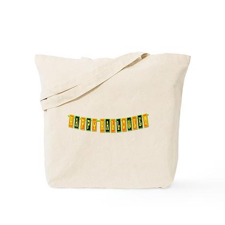 Happy Halloween Banner Tote Bag