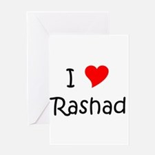 Cute Rashad Greeting Card