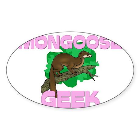 Mongoose Geek Oval Sticker