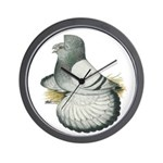 English Trumpeter Silver Wall Clock