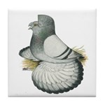 English Trumpeter Silver Tile Coaster
