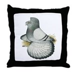 English Trumpeter Silver Throw Pillow