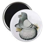 English Trumpeter Silver Magnet