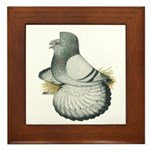 English Trumpeter Silver Framed Tile