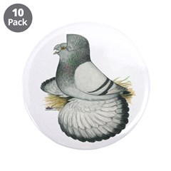 """English Trumpeter Silver 3.5"""" Button (10 pack"""