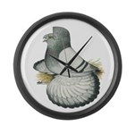 English Trumpeter Silver Large Wall Clock