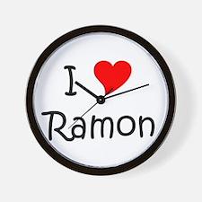 Cute I love ramon Wall Clock