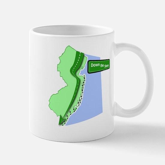 downshore2b-white Mugs