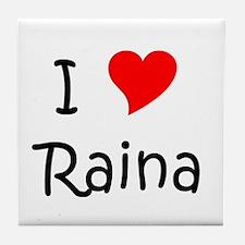 Cute I love raina Tile Coaster