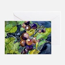 grapevine grapes fruit still Greeting Card