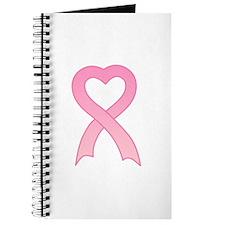 Pink Heart Ribbon Journal