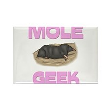 Mole Geek Rectangle Magnet