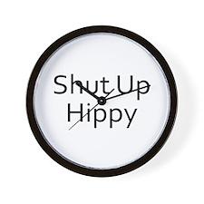 Shut Up Hippy Wall Clock