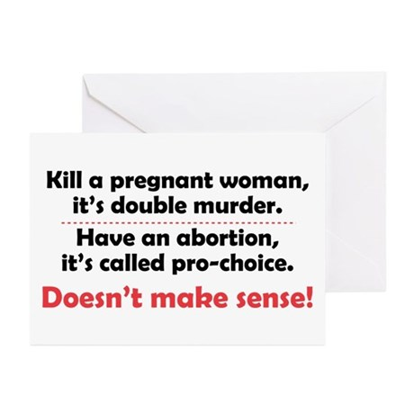 Double Murder Greeting Cards (Pk of 10)