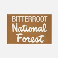 Bitterroot National Forest (Sign) Rectangle Magnet