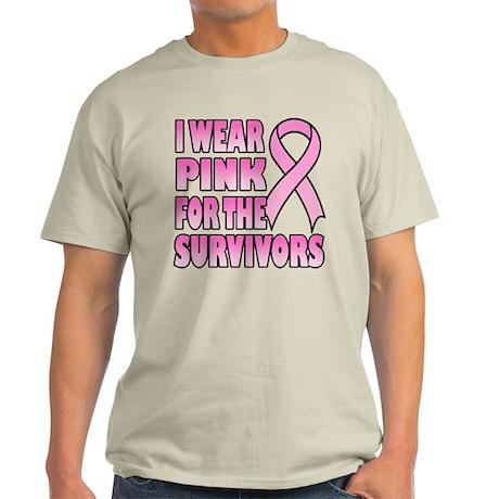 I Wear Pink for the Survivors Light T-Shirt