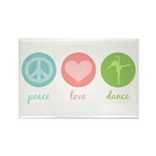 Peace, Love & Dance Rectangle Magnet