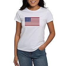 United States Flag Sticker Tee