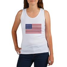 United States Flag Sticker Women's Tank Top
