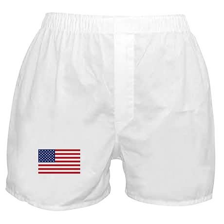 United States Flag Sticker Boxer Shorts