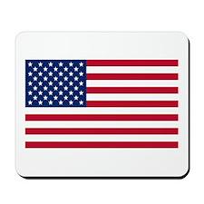 United States Flag Sticker Mousepad