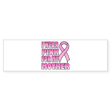 Mother Pink Ribbon Bumper Sticker