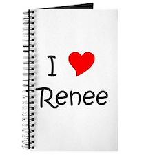 Unique I love rene Journal