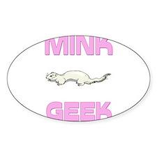 Mink Geek Oval Decal