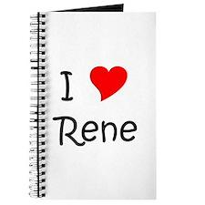 Cute I love rene Journal